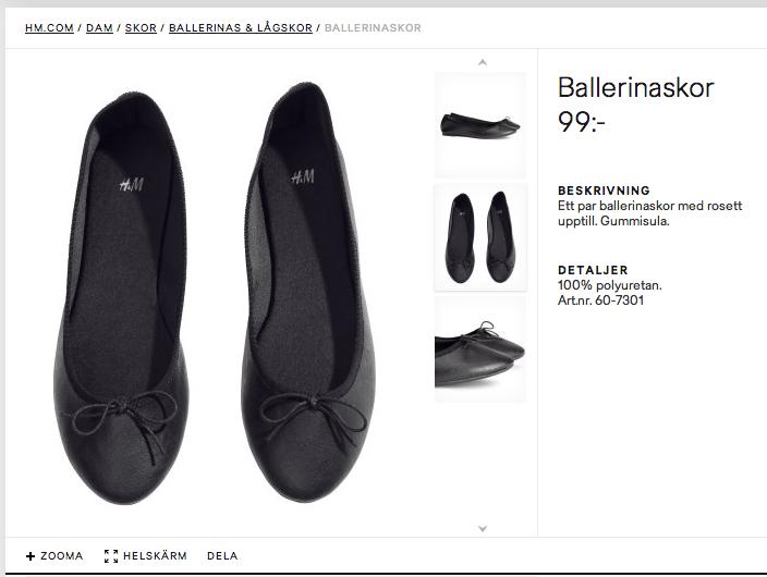 Ballerinaskor från H&M