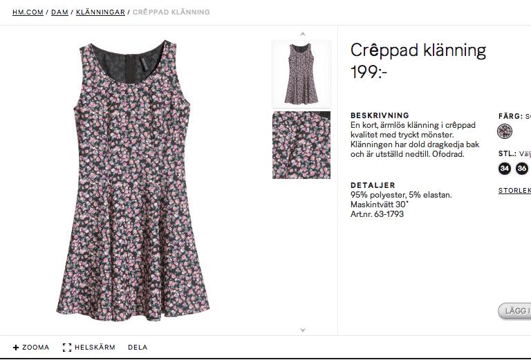 Blommig klänning från H&M