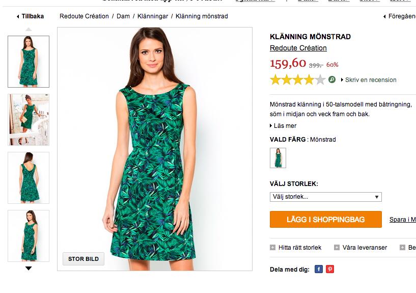 Grön klänning från La Redoute
