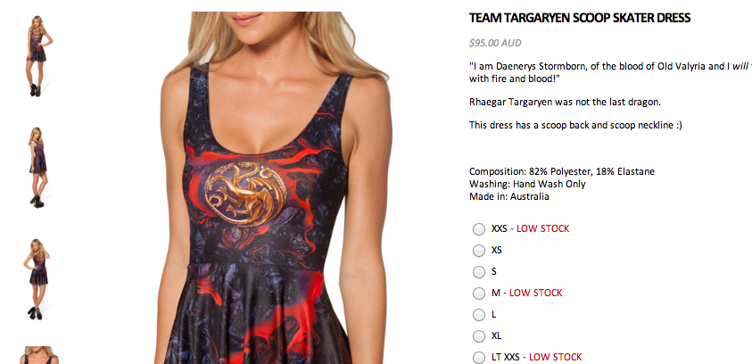 Team Targaryen Dress