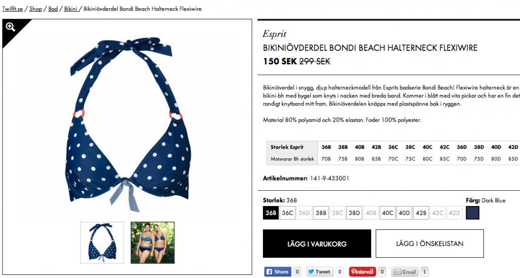 Bikiniöverdel från Esprit