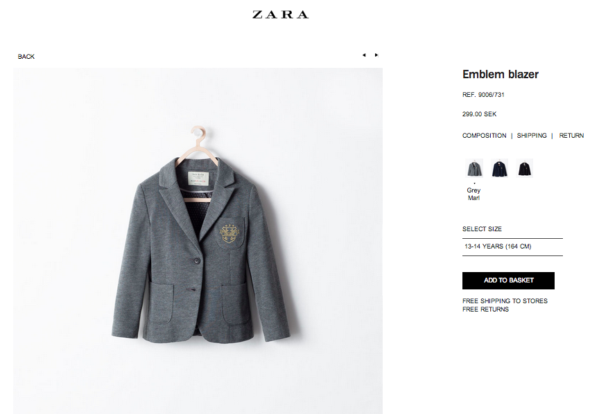 Blazer från Zara Kids