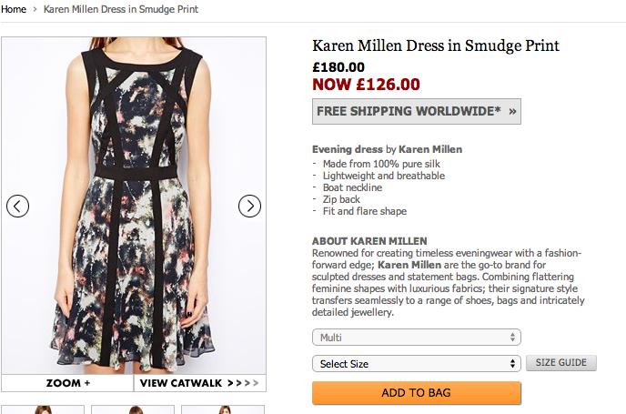 klänning från Karen Millen