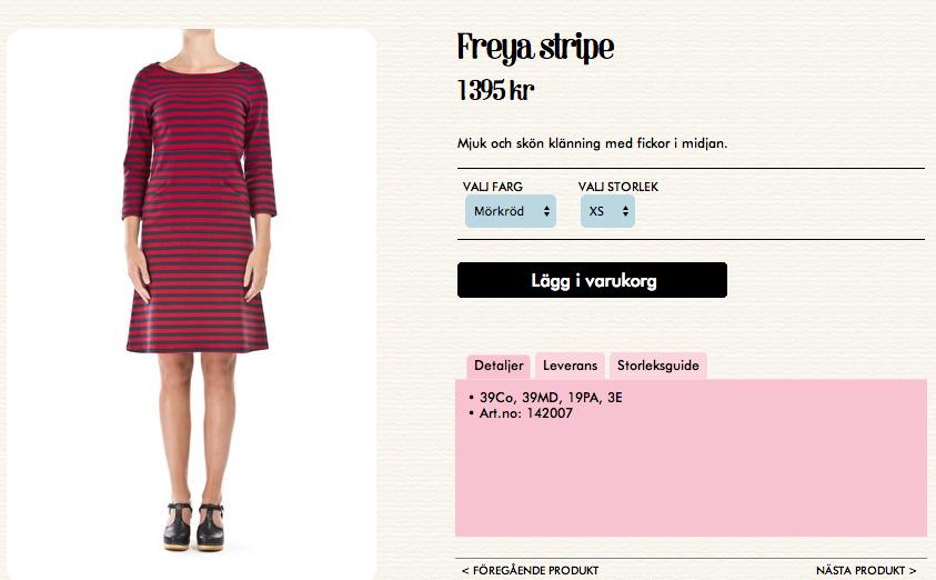 klänning från jumperfabriken